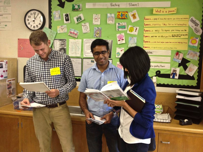 The Edcite team marvels at student poetry projects.