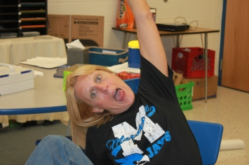 When Ms. Cary told her students she would be featured in the Edcite blog and needed a photo, they encouraged her to take a goofy one. Here it is!